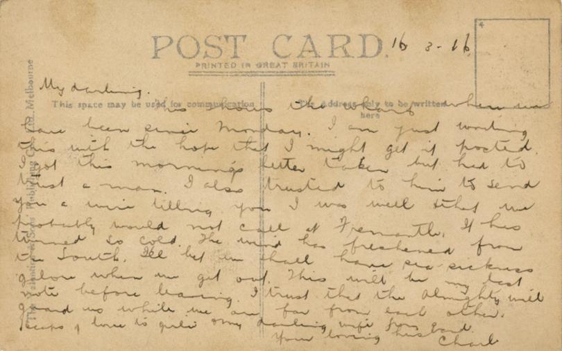 'My Darling' 16th March 1916